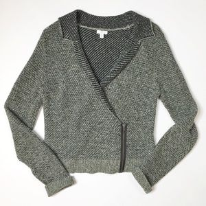 BP Knit Moto Style Sweater
